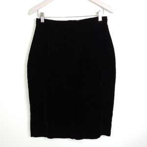 Scott McClintock Vintage Black Velvet Pencil Skirt